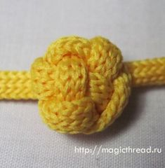 Icord Button Knot.  Step by step photo tutorial.