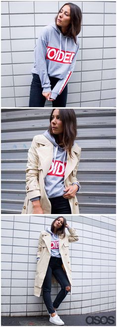 It's time you added 'buy a hoodie' to your to-do list. Why? Because it's all kinds of AW16 and looks major with a pair of ripped skinny jeans, white kicks and a neutral mac, that's why… (shout out to ASOS Insider Alice for the inspiration).