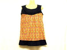 Womens Floral Vest Tops Floral Clothing, by RebeccasClothes on Etsy Floral Tops, Custom Made T Shirts, Vest Tops, Summer Vest, Black Laces, Black Cotton, Black Tops, Floral Clothing
