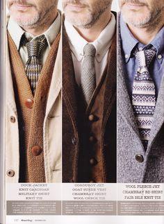 Free and Easy, necktie, fair isle