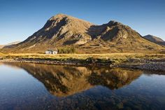 Wee Cottage between Buachaille Etive Mor & River Coupall, Highlands