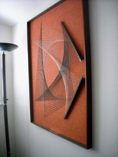 A refined piece of string art, against a background of my favorite shade of my favorite color. Do you want string art in your home? String Wall Art, Nail String Art, Dollar Store Crafts, Diy Crafts To Sell, Arte Linear, String Art Patterns, Art Du Fil, Thread Art, Wire Art