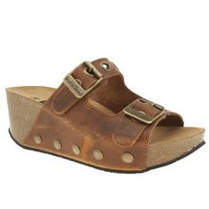womens red or dead tan shaky shaky sandals