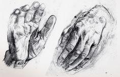 Drawing of #hands by Antonio López García