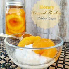Canned Peaches without Sugar! Yes, you can have sugar free Bottled Peaches | Food Storage Series #recipes #foodie #cannedpeaches