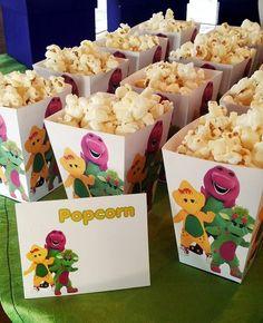 Barney Popcorn Boxes More