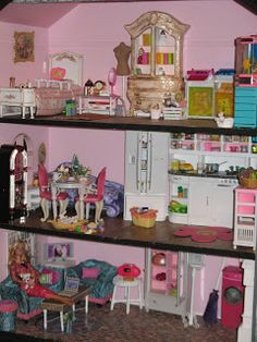 Barbie House Makeover + Links to Furniture Tutorials and Makeovers