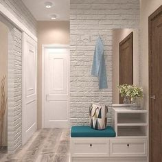 design and decor of the hallway interior for the hallway hallway interior to decorate the hallway Hallway Decorating, Entryway Decor, Interior Decorating, Flur Design, Hall Furniture, Hallway Designs, Home Interior Design, Living Room Decor, House Design