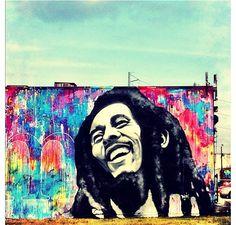 Bob Marley art Urban Street Art, 3d Street Art, Street Art Graffiti, Urban Art, Bob Marley Art, Diy Artwork, Dope Art, Amazing Art, Amazing Pics