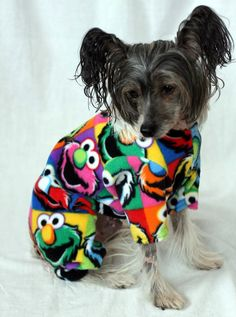 Elmo PJs Custom Made Fleece Dog Pajamas van NakedDogPJs op Etsy, $17.00