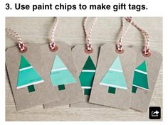 DIY gift tags with paint chips