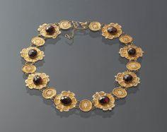 Collier en or et grenats, vers 1840- Pays-Bas