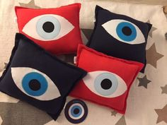 evil eye pillows by cotton prince