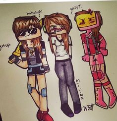 Adam, Jason and Ty genderswap. (Addie, Jaqueline and... Shy? No, that's my name XD)