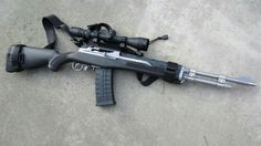 the Ruger with a few accessories would make a great all-around centerfire rifle in a survival or SHTF situation, if a centerfire rifle was needed. The round is inexpensive, plentiful, and ballistically similar to the Weapons Guns, Military Weapons, Guns And Ammo, Mini 14, Fire Powers, Assault Rifle, Sks Rifle, Home Defense, Hunting Rifles
