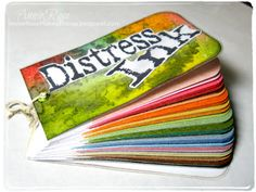 Annie Rose Makes Things: Distress Ink Tutorial: Color Swatch Book