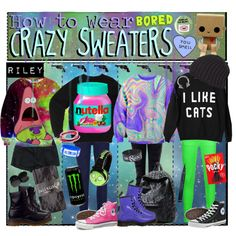 """""""HTW: Crazy Sweaters!"""" by tips-tips-tipss on Polyvore"""