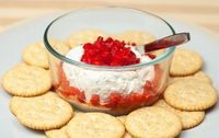 Cheese Dip with Sweet and Sour Bell Peppers Appetizer Dips, Yummy Appetizers, Appetizer Recipes, Hot Snacks, Yummy Treats, Yummy Food, Brunch, Cream Cheese Dips, Stuffed Sweet Peppers