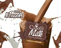 """Grandissima novità, Fattoria La Frisona presenta il nuovo """"CiocoMilk""""latte fresco e squisito cioccolato in un mix tutto da gustare.     #milk   #sanefood   #chocolate"""