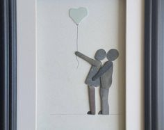 Couple Pebble Art, Anniversary Pebble Picture,Pebble Art Family, Personalised Picture, Cornish Pebble Art, Cornwall, sea glass heart,