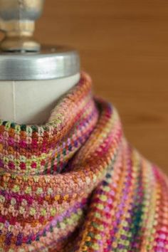 Crocheted 'Linen Stitch' Scarf free pattern ༺✿ƬⱤღ✿༻