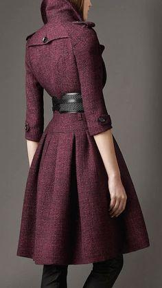 [purp] <3 Burberry Full Skirted Tweed Coat