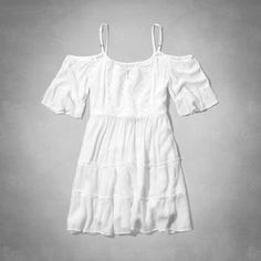 open shoulder peasant dress from Abercrombie Kids | summer 2015