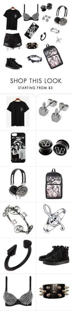 """""""dangerously causal."""" by jayisdarkness ❤ liked on Polyvore featuring claire's, Bling Jewelry and Christian Louboutin"""