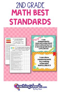 """This is a complete set of """"I Can"""" posters and checklists for language arts, math, science, and social studies. The standards are rewritten in student-friendly """"I Can"""" statements. Use these in your classroom to """"frame"""" the lesson. Show the students what they will be learning during the lesson. 2nd Grade Reading, 2nd Grade Math, Second Grade, I Can Statements, Science Standards, Math Numbers, Interactive Activities, Task Cards, Math Lessons"""