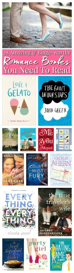 Do you love reading Romance Books? Check out this great list of love stories to feed your romance, chick-lit, and new adult reading list. via @sugarandsoulco
