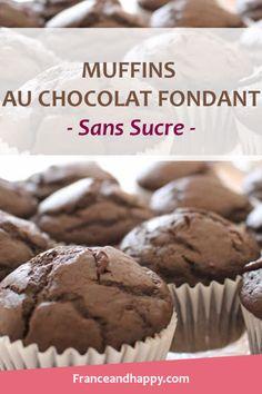 -HEALTHY- Muffins au chocolat fondant SANS SUCRE !