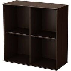 South Shore Store It Collection 4-Cubby Storage Shelves, Chocolate $63.00