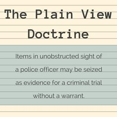 plain view doctrine