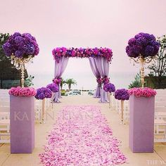 Ready…set…walk…a stroll down this beautiful aisle created by the awesome @karentranevents team would certainly elevate your excitement!! @Ms. Mack #blackbride1998 #blackbride #futurebrides #radiantorchid #pantone #floraldecor #florals #weddinginspiration #weddingdecor #instaglam