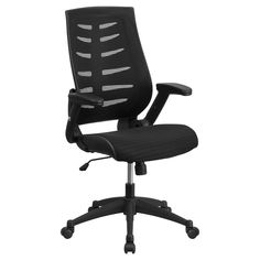 high back navy blue fabric executive swivel office chair flash