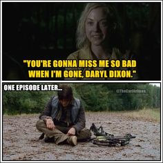 Awww... I'm not crazy about her character, but I desperately want Darryl to have a little happiness even if it's with Beth.