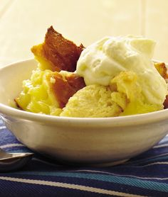 Old-fashioned bread pudding gets a fresh flavor upgrade with the addition of lemon pie filling, making it the perfect addition to your next brunch party. Not a lemon fan? You can swap in any pie filling flavor you'd like—try apple or cherry!