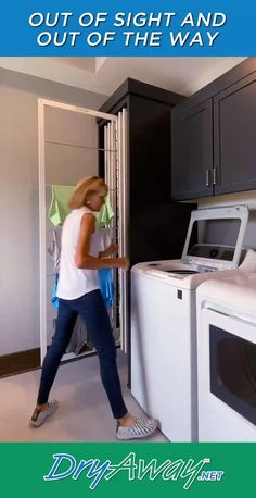 Laundry Room Organization, Laundry Room Design, Modern Laundry Rooms, Laundry Room Remodel, Laundry Closet, Hidden Laundry, Laundry Room Cabinets, Laundry Room Bathroom, Basement Laundry