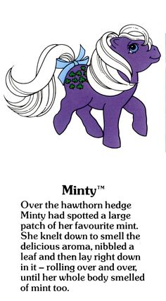 My Little Pony Minty fact file ...