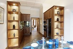 Kitchen through to lounge from a build we did back in 2006 in the heart of Mayfair. Bathroom Medicine Cabinet, Bespoke, Kitchen Design, Lounge, Construction, Interior Design, Heart, Building, Taylormade
