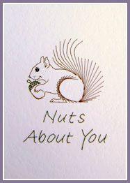 Squirrel & Panda Prick 'n Stitch Card Designs