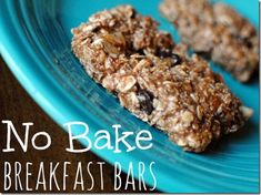 No Bake Breakfast Bars - Peanut Butter Fingers