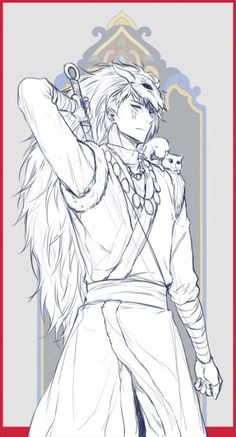 Shin-Ah the seiryuu from yona of the dawn, great manga although it starts out kinda slow it's definitely worth it