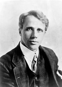 Robert Frost.   I love how many layers of darkness and doubt people can posses while still remaining the picture of joviality. And I love looking at how much of this can unconsciously seep into one's work.