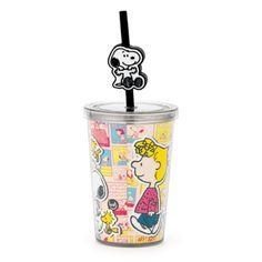 Snoopy Mini - Copo com Canudo - Azzurium Decorações e Presentes Criativos