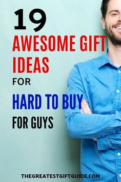 We all have that hard to buy for guy in our lives. It could be your friend, brother, husband or father. Our gift guide is tailored with unique gift ideas for any kind of hard to buy for guy in your life. Our suggestions make great gifts for Christmas, a birthday or any other special occasion. #giftguide #gifts #gift #giftideasforhim #uniquegiftideas