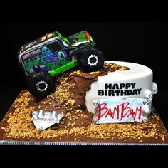 Grave Digger....definitely a boys birthday cake.
