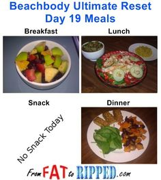 Beachbody Ultimate Reset Day 19 Meals