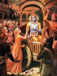 Vandanam – Turning to Prayer by Dvarakadhisa Devi Dasi Arte Krishna, Krishna Leela, Krishna Radha, Krishna Love, Durga, Indian Gods, Indian Art, Raja Ravi Varma, Lord Krishna Images