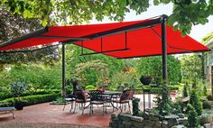 free-standing exterior awning shade - Google Search
